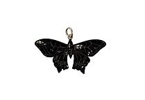 Black horn butterfly pendant