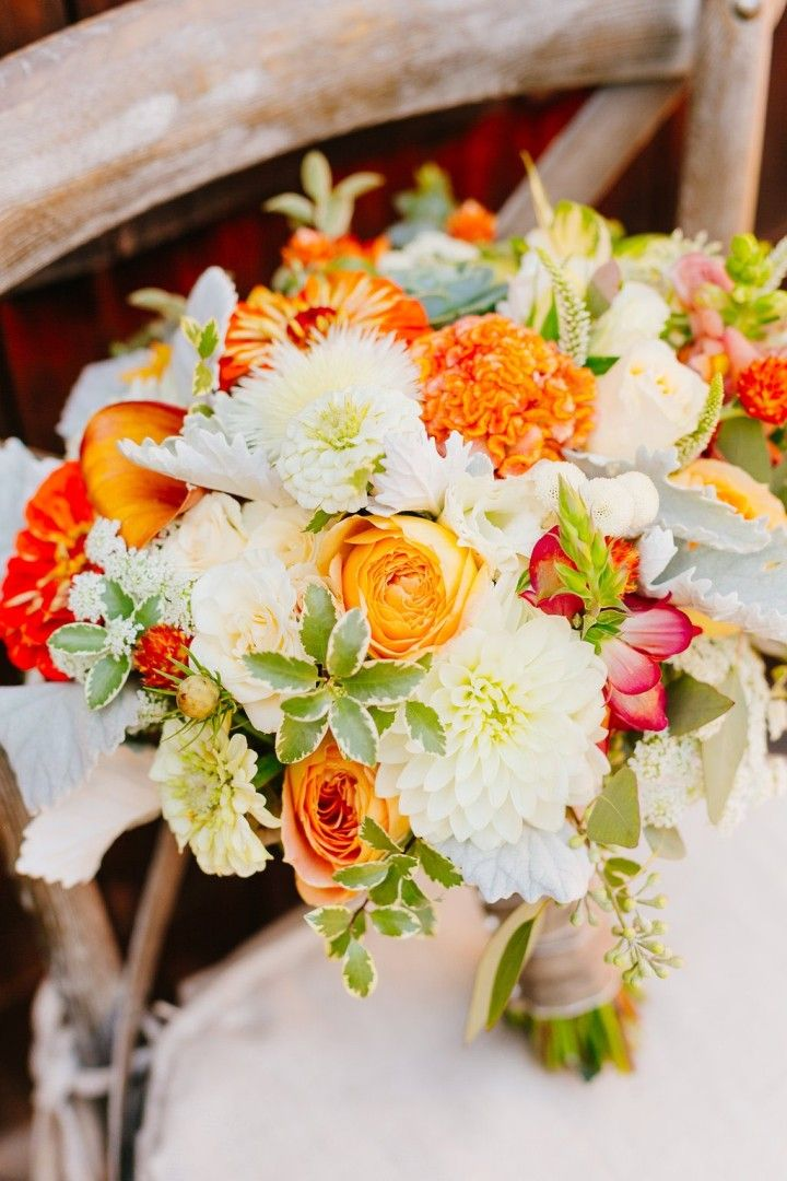 Colorfully Chic Outdoor California Wedding Bridal Bouquets California Wedding And Floral Designs