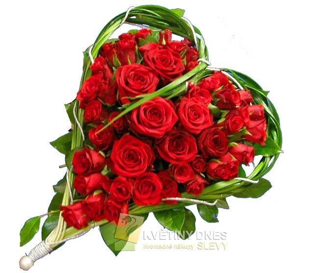 Romantické srdce Květiny online - květinářství Praha Pankrác - netradiční kytice, dárky pro muže, dárkové koše, ovocné kytice. Pro ženy čerstvé řezané růže, Holandské tulipány, gerbery. Rozvoz květin.