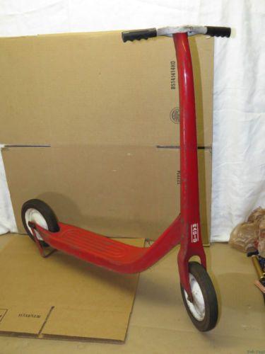 Vintage 50s Kids Child's Radio Flyer Red White Scooter Ride on Toy Pressed Steel   eBay