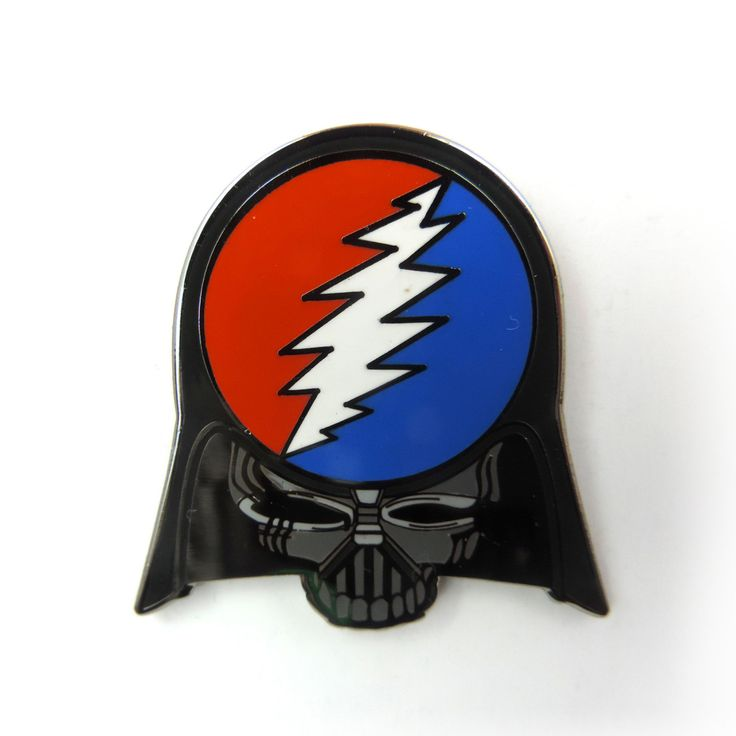 Darth Vader Stealie Grateful Dead Hat Pin by FigmentalCreations