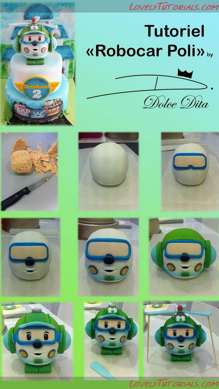 Robocar Poli cake topper tutorial