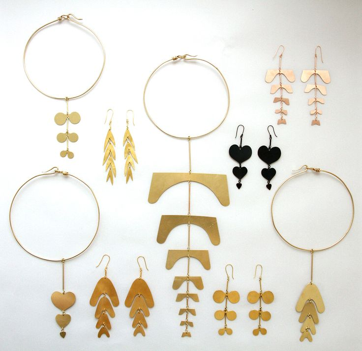 Collars and earring from Botany collection , by Sian Evans at www.sejewellery.com