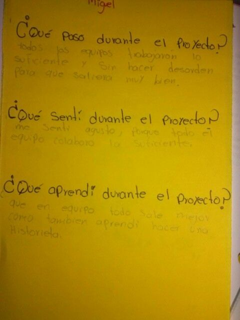 Español sesión 5- bitácora COL sobre el proyecto. 14/03/14.