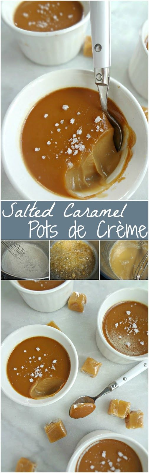 Salted Caramel Pots de Crème-decadent desserts that are creamy and dreamy and perfect for entertaining.