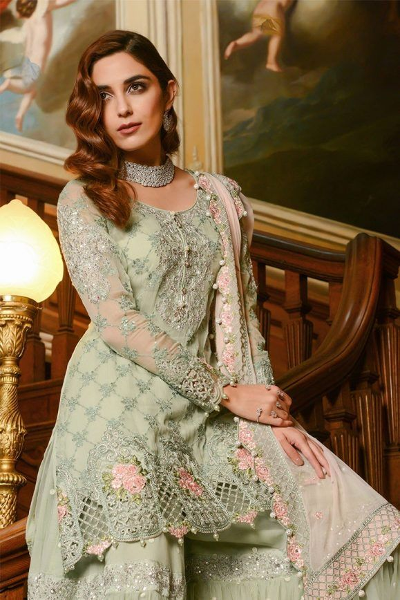 8bafb1a791 Maria B Embroidered Formal Winter Dresses Collection 2018-2019 ...