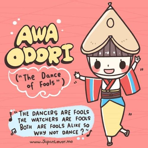 """The Awa Dance Festival (阿波踊り / Awa Odori) is held from 12 to 15 August as part of the Obon festival in Tokushima Prefecture on Shikoku in Japan. Awa Odori is the largest dance festival in Japan, attracting over 1.3 million tourists every..."