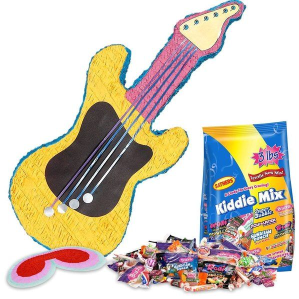 Check out Guitar Pinata Kit (Each) - Cheap Pinatas Supplies and Decorations from Wholesale Party Supplies