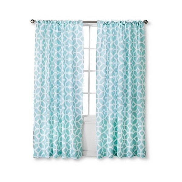 Helix Modern Window Panel ($18) ❤ liked on Polyvore featuring home, home decor, window treatments, curtains, blue, modern valances, geometric pattern curtains, blue curtain panels, blue curtains and blue window panels