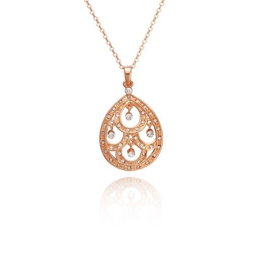 18K Rose Gold P & Czech Crystal Bollywood Necklace was $19.99 NOW $13.99