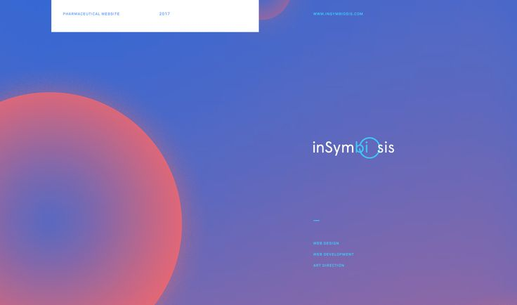 InSymbiosis Website on Behance