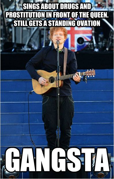 Ed Sheeran can sing about anything and make it the most beautiful thing you have ever heard.