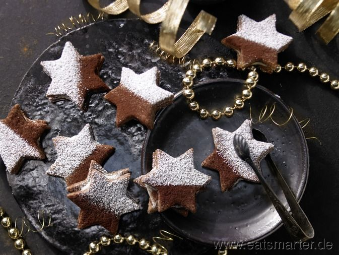 Tiramisu-Sterne mit Schoko-Mascarpone-Füllung - smarter - Kalorien: 200 Kcal | Zeit: 80 min. #christmas