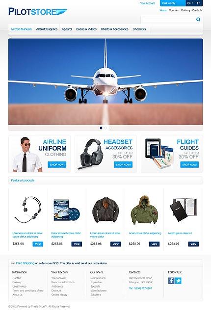 Pilot Store PrestaShop Theme #business #airline #website http://www.templatemonster.com/prestashop-themes/42056.html?utm_source=pinterest&utm_medium=timeline&utm_campaign=pilot