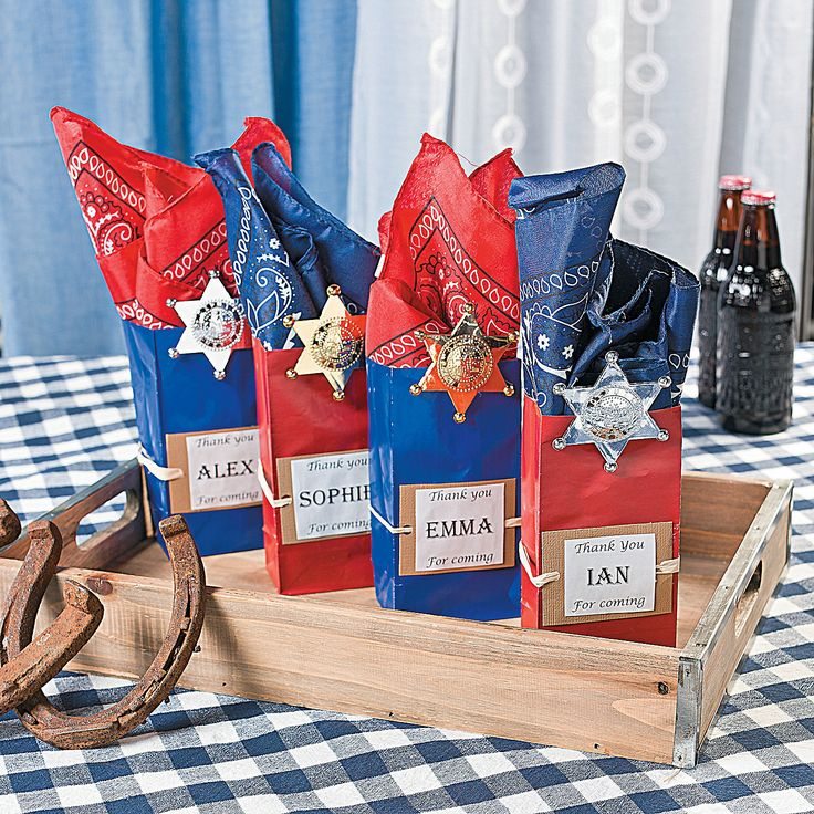 Howdy! Treat Bags for your Cowboy party! OrientalTrading.com