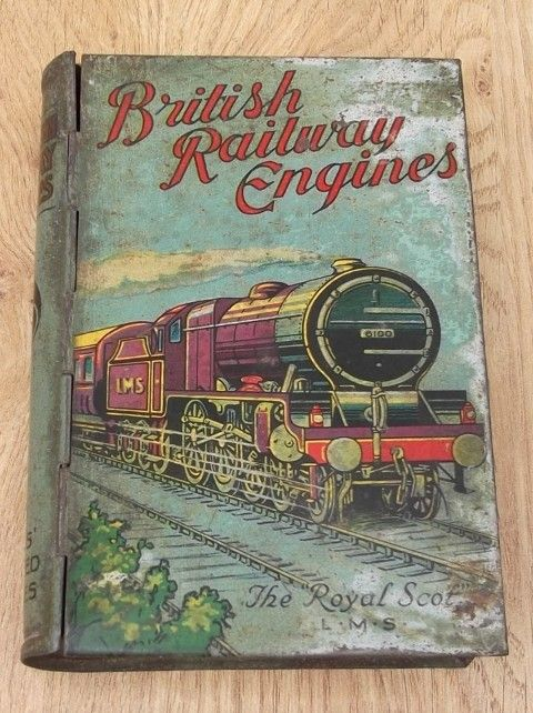 Lyons Toffee Book Tin c.1929 British Railway Engines – The Royal Scot.(YP)