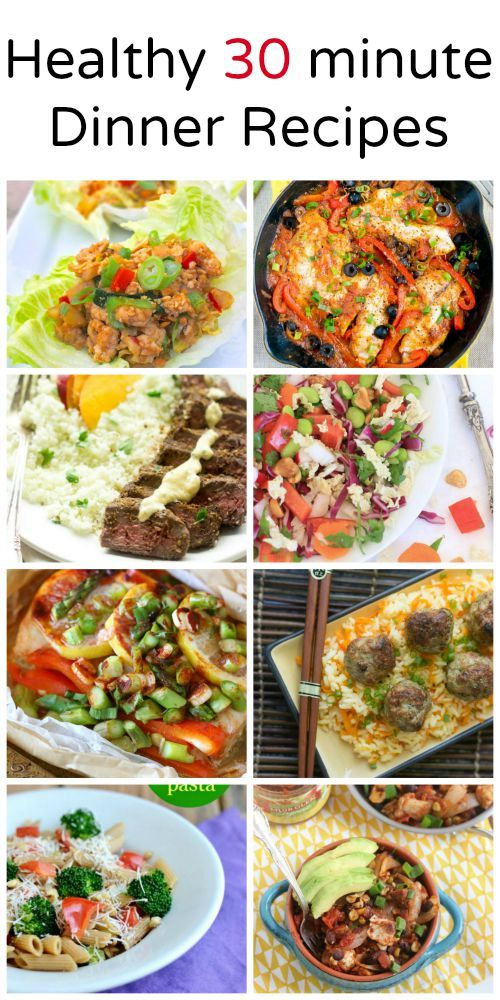 Perfect for a school night - Healthy 30 minutes or less Dinner Recipes - seafood, chicken, meat and meatless options