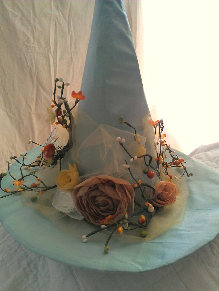 Witch Hat Pale Autumn Blue Witches Hat. $115.00, via Etsy.