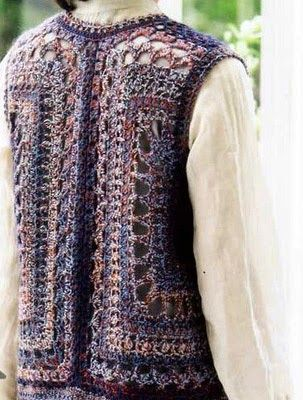 Crochet: Crochet vest... I love wearing vests in the wintertime!! This one has free diagrams and layout!
