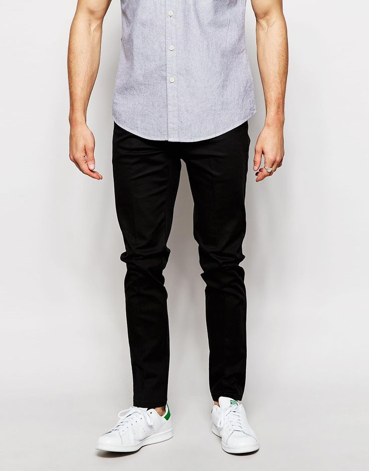 """Trousers by Selected Homme Soft-touch cotton Added stretch for comfort Zip fly Side slant pockets Slim fit - cut closely to the body Machine wash 97% Cotton, 3% Elastane Our model wears a 32""""/81cm regular and is 185.5cm/6'1"""" tall"""