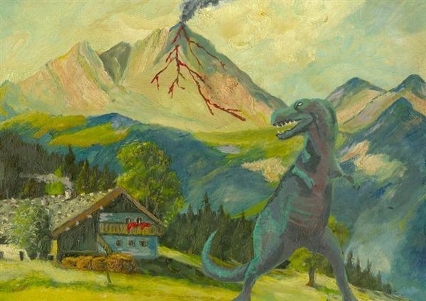 These are great...altered thrift store art!!