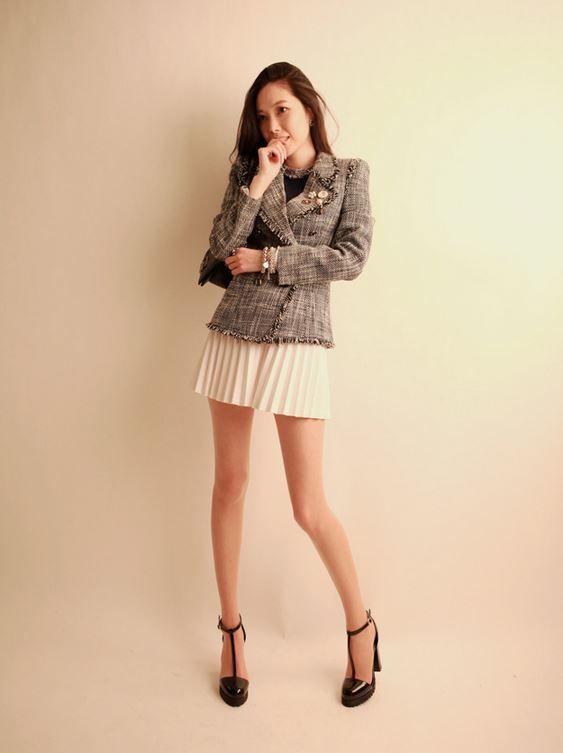 Korea feminine clothing Store [SOIR] Double-Tweed Jacket / Size : S,M / Price : 88.42USD #korea #fashion #style #fashionshop #soir #feminine  #special #tweed #jacket