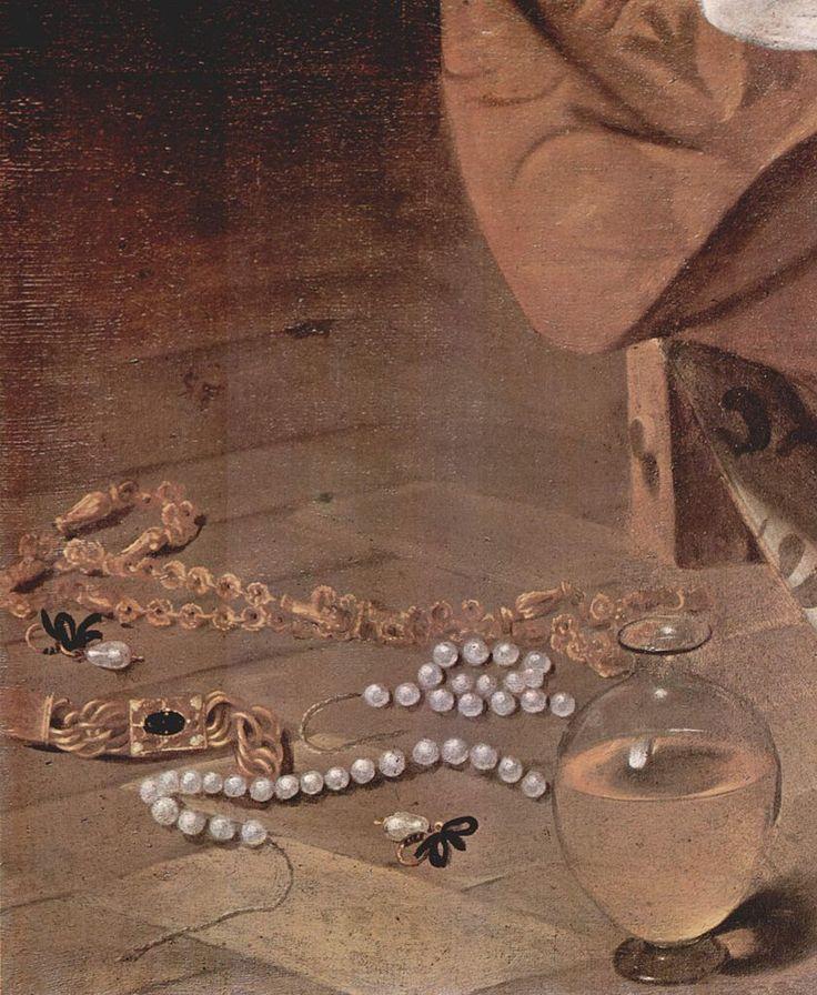 Caravaggio: Penitent Maria Magdalena (detail)