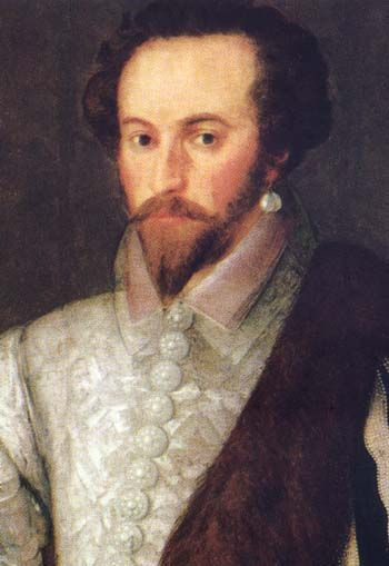 Sir Walter Raleigh (Man with a Pearl Earring!). Imprisioned for 13 years, until 1616 for his plot against King James, son of Mary Queen of Scots.