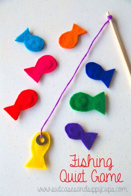 Fishing game to sew. I'd make the fish more ornate and interesting looking.