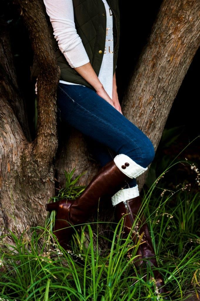 We at Mademois-elle love our cream fold over boot cuffs. They add style and sophistication to any outfit.