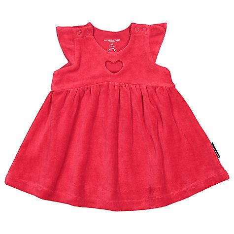 Buy Polarn O. Pyret Baby Velour Dress, Red Online at johnlewis.com
