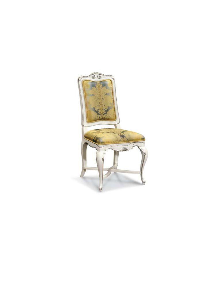 Scaun din lemn masiv art 505s Upholstered Chair Meggoirini Santino Collection