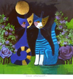 Rosina Wachtmeister cats are instantly recognizable with their pretty patchwork appearance, thin necks and stylized forms. They are at the same...