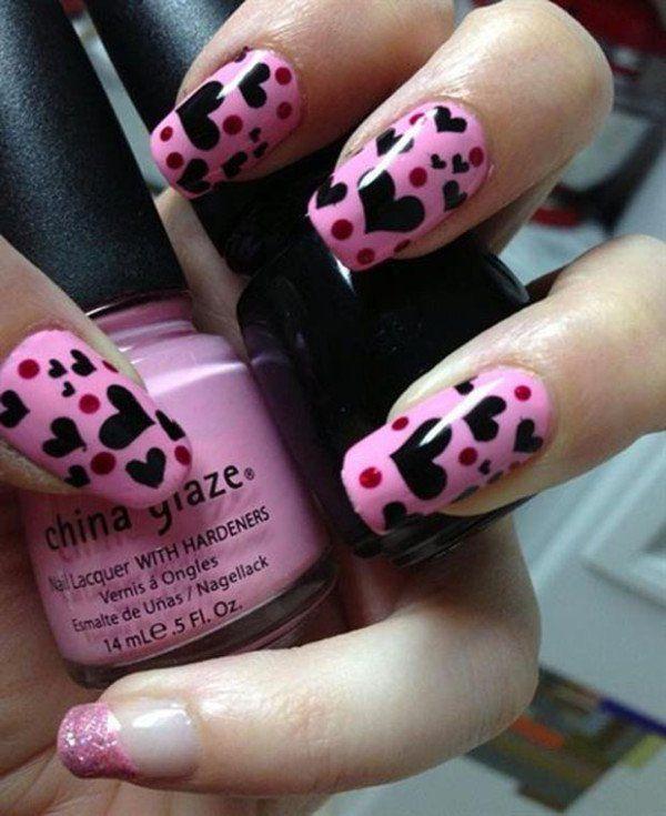 decoracion de uñas de san valentin #uñascorazones #uñas