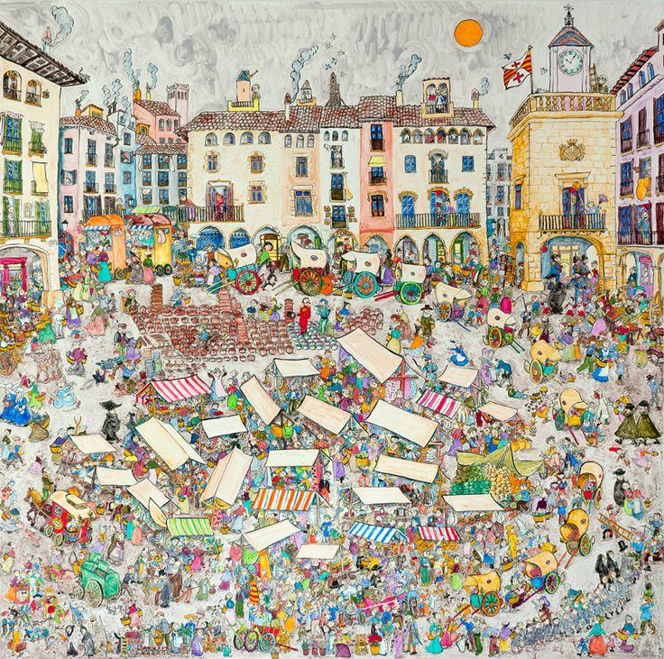 """""""El mercat de la meva àvia"""", obra mestra de la Pilarín Bayés"""