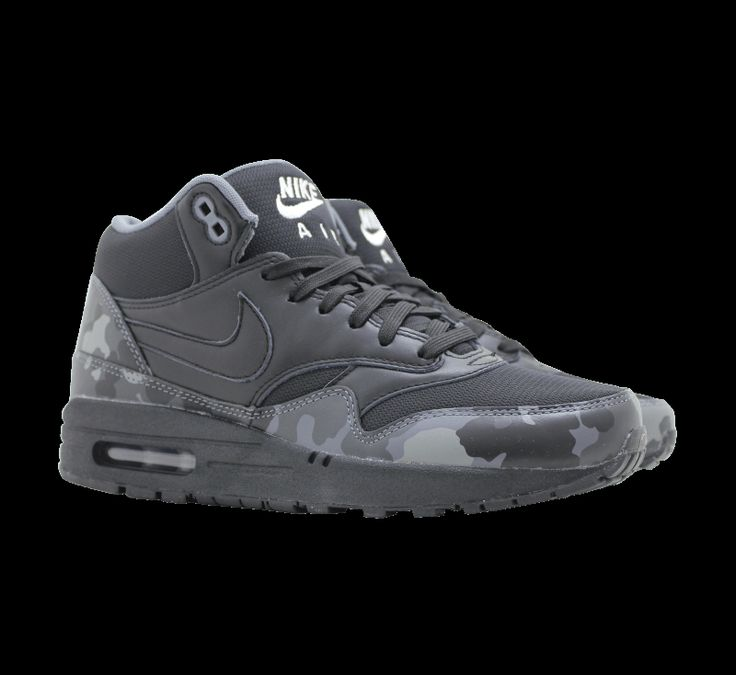 Nike Nike Air Max 1 Mid FB Black Black - 685192-001 - Sneaker District