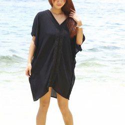 新作!カフタンビーチドレス <ブラック>