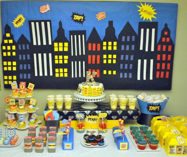 17 Best Ideas About Superhero Party Decorations On