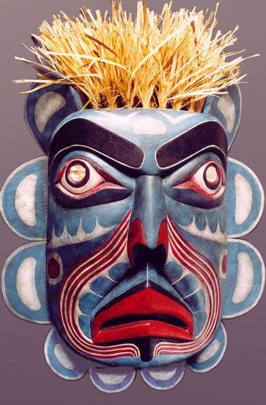Northwest coast native American style carvings