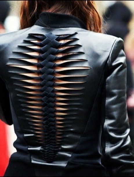 Leather spine.