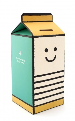 Cute milk carton.