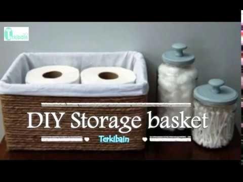 DIY cardboard basket:Turn a cardboard box into a fancy store bought basket