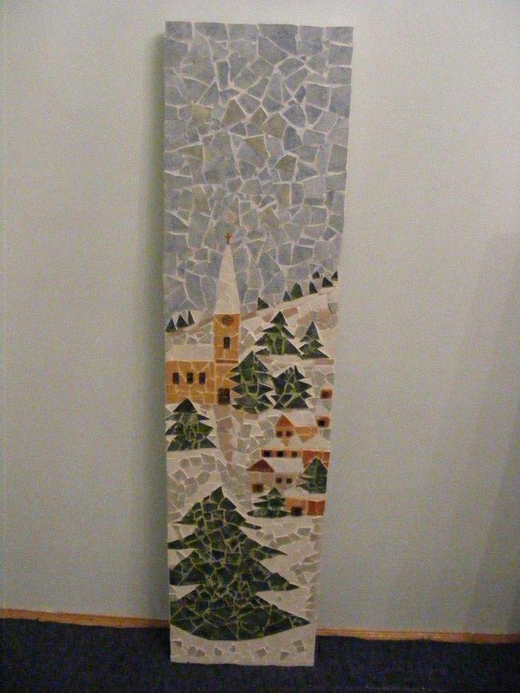 Mozaik téli kép.