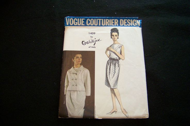 VCD 1409 Galitzine Of Italy Suit & Blouse Sz16/36/38 complete sld 38+2 11bds 4/23/16