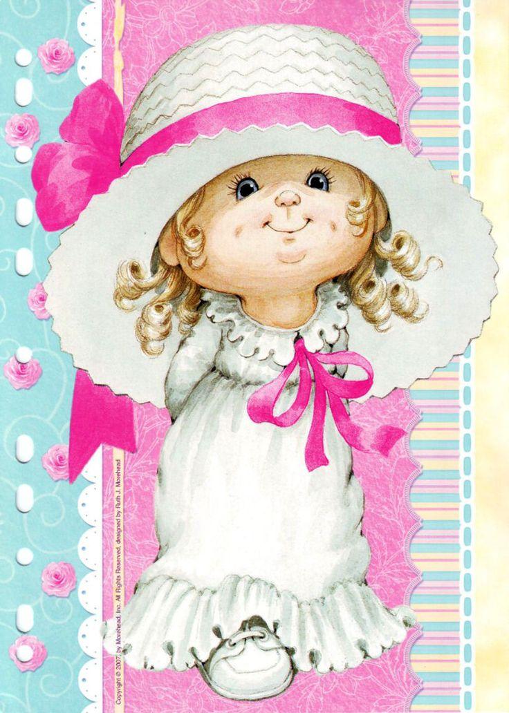Открытка милая малышка, стиле