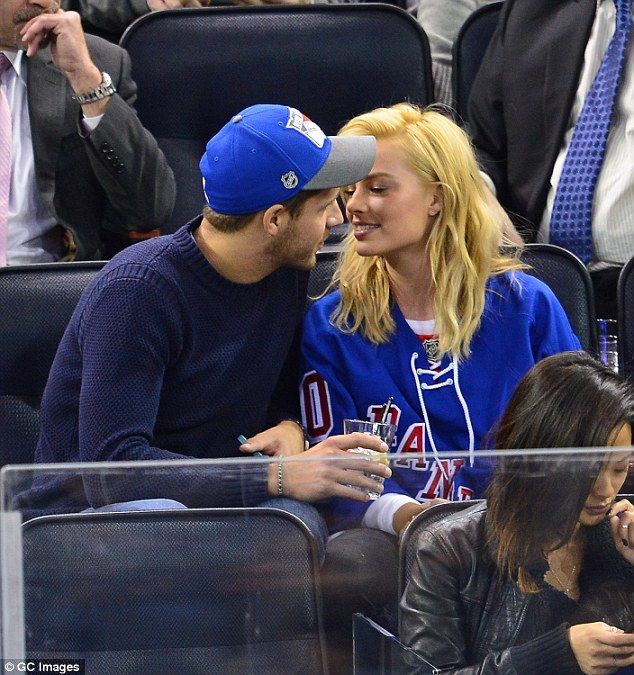 Pucker up! Margot has been enjoying a loving relationship with her boyfriend of more than a year, Tom Ackerley