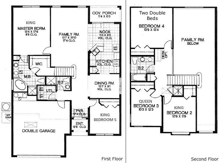 5 Bedroom Home Designs 53 Best Floor Plans Images On Pinterest  Home Ideas House