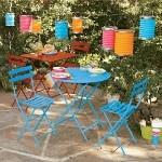 Blue bistro patio set
