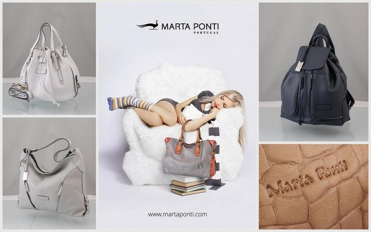 """Malas em pele """"Marta Ponti"""", Nacionalidade da marca: Portuguesa!"""