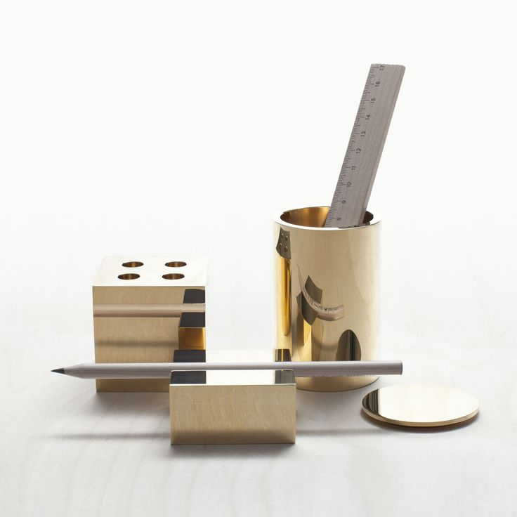 launch of desk collection in new solid brass finish